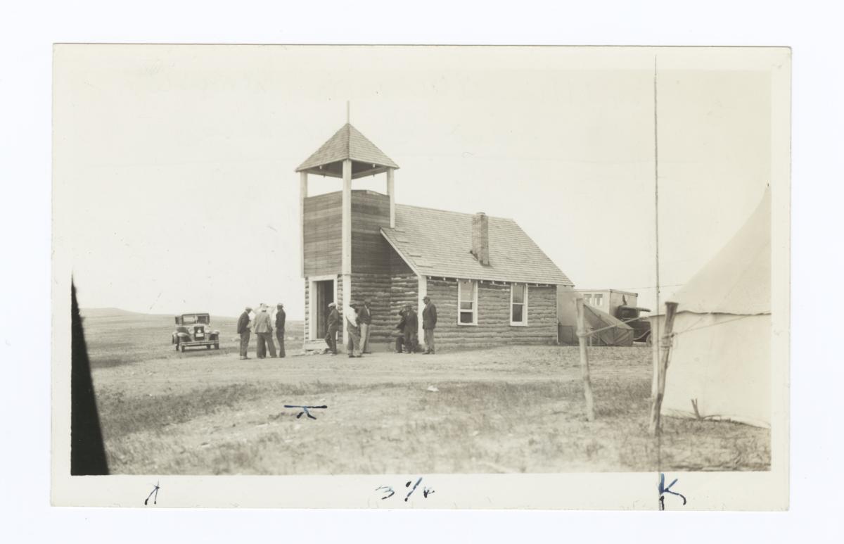 Indian Congregational Church on Rosebud Reservation, South Dakota