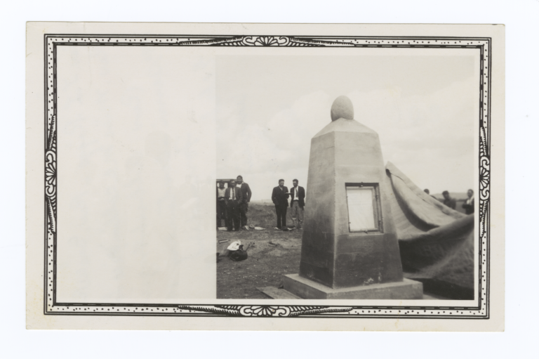 Unveiling of Memorial Stone for the Reverend T.L. Riggs, Little Eagle, South Dakota