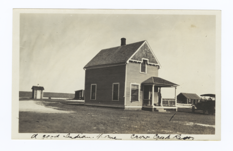 Home of Gregory Seeking Land, Crow Creek Reservation, South Dakota