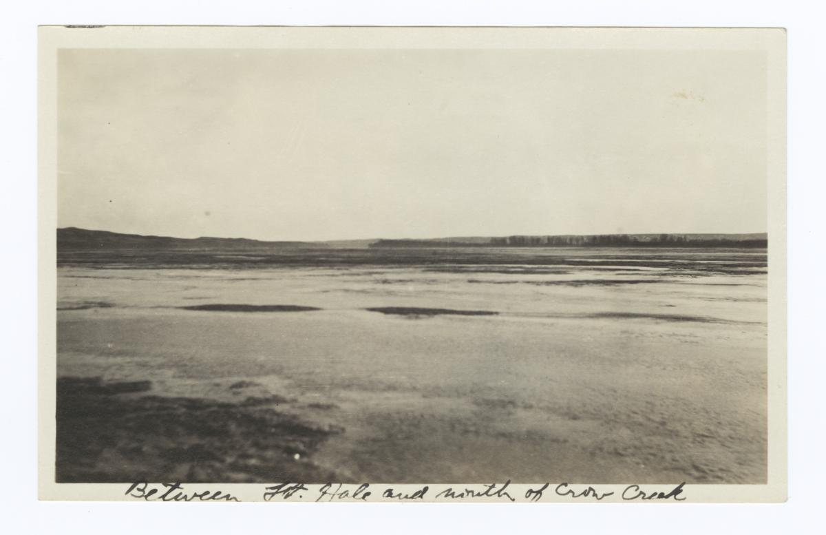 Winter Landscape Between Fort Hale and Mouth of Crow Creek, South Dakota