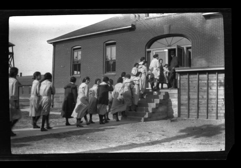 Group of Women Entering a Building, Rapid City, South Dakota