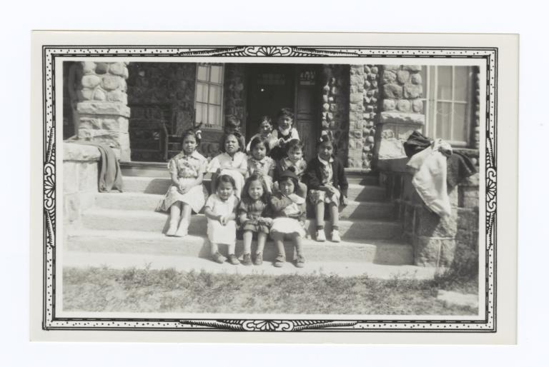 Children at 50th Dakota Association Anniversary, Oahe, South Dakota