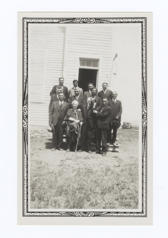 Dr. and Mrs. Thomas L. Riggs with Native Pastors, Oahe, South Dakota