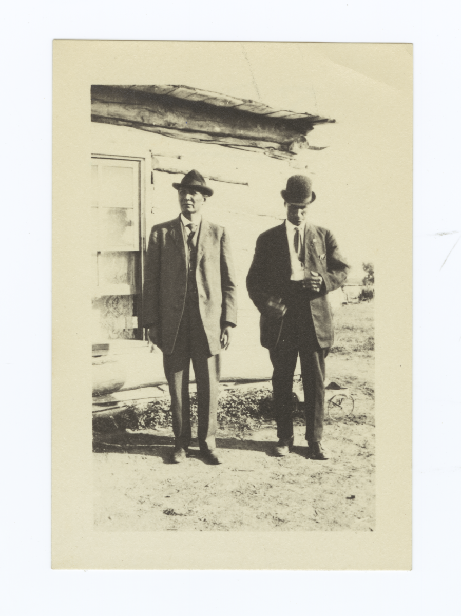 Two Gentlemen Wearing Suits and Ties, and Hats, South Dakota