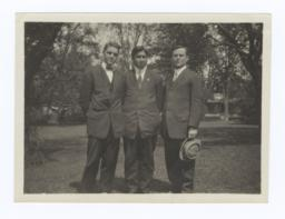 Bob Hall, Stephen Jones and G.E.E. Lindquist at Oberlin