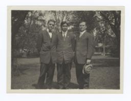 Bob Hall, Stephen Jones and G.E.E. Lindquist at Oberlin