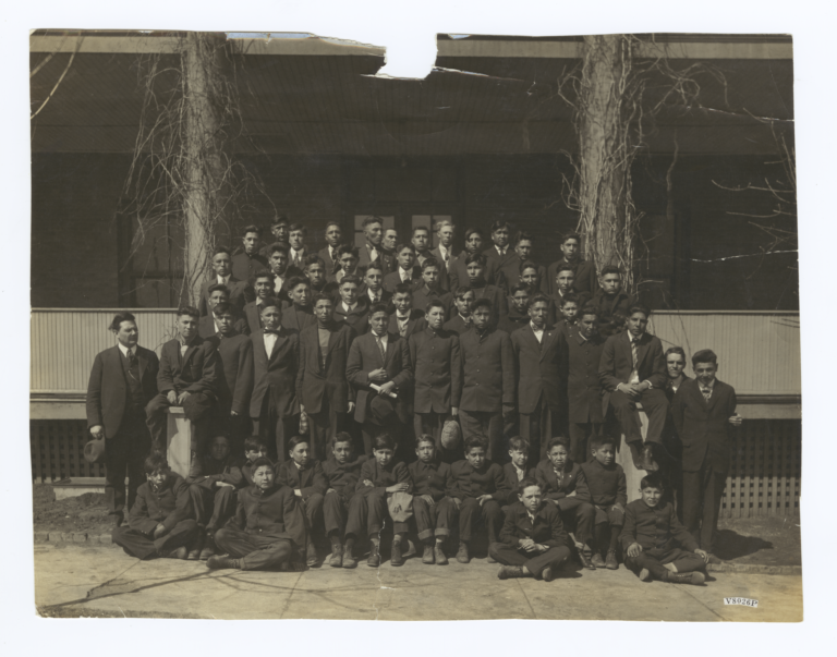 Group Portrait of Young Men and Boys, Flandreau, South Dakota