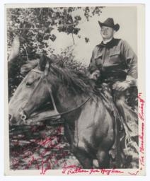 Reverend Joe Hogben on a Horse, Episcopal Missionary to Ute Indians, Whiterocks, Utah