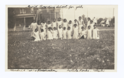 Female students, Government Boarding School, Uintah and Ouray Reservation, Whiterocks, Utah