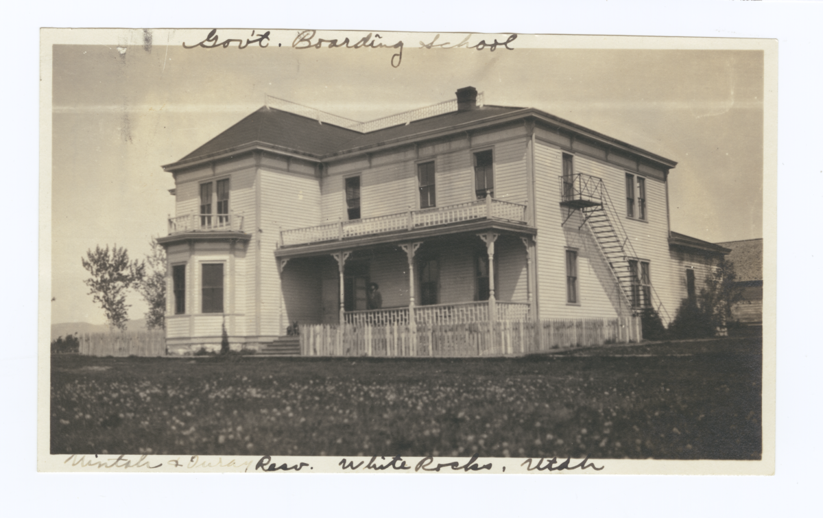 Employees' Building, Government Boarding School, Uintah and Ouray Reservation, Whiterocks, Utah
