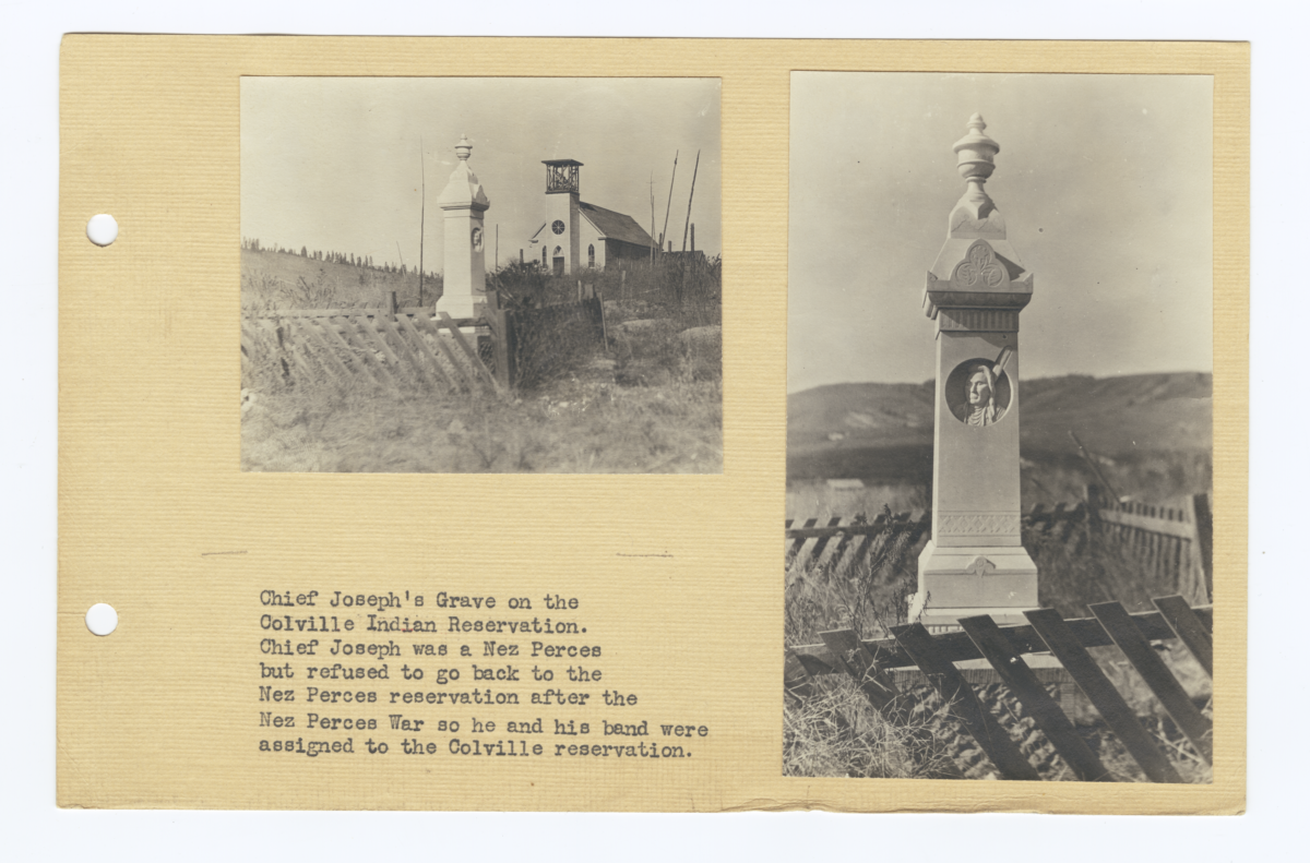 Landscape and Close-Up of Chief Joseph's Grave, Colville Indian Reservation
