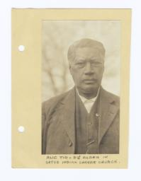 Alec Tio, Third Elder in Satus Indian Shaker Church, Washington