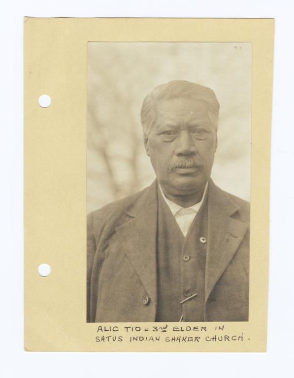 Alec Tio, Third Elder in Satus Indian Shaker Church, Washington