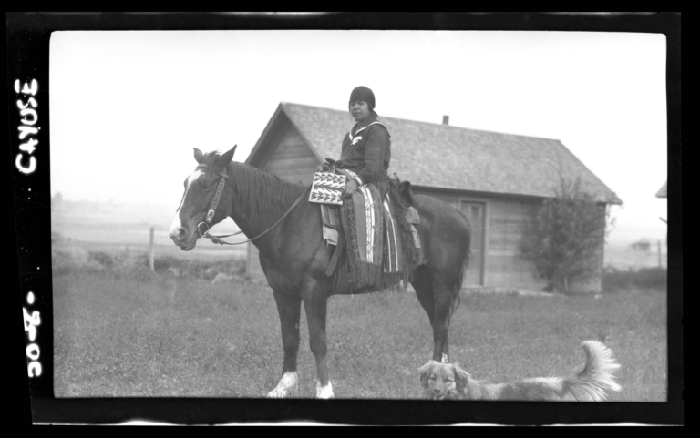 Cayuse Indian on Horseback