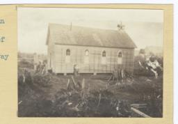 Shaker Indian Church Surrounded by Tree Stumps, Washington