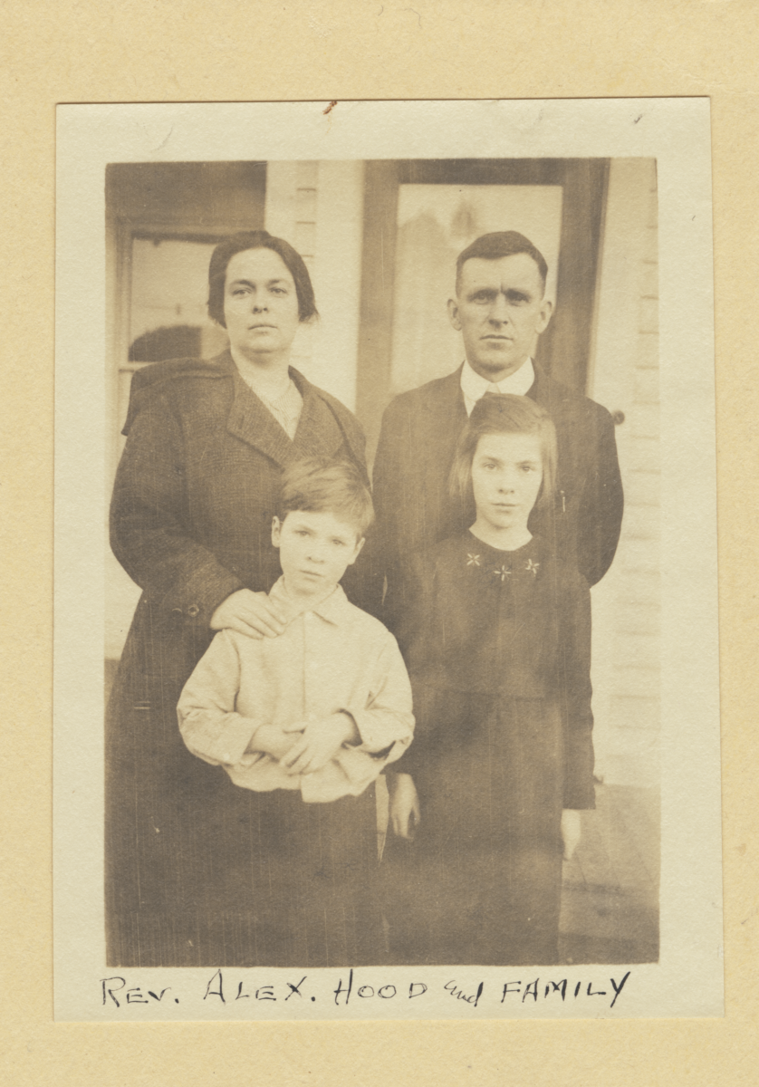 Reverend Alex Hood and Family, Washington