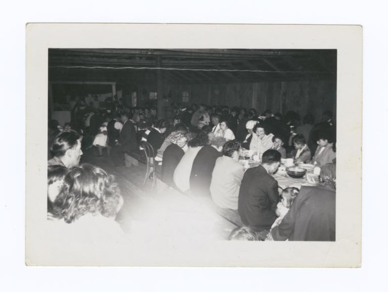 People Dining at an Indian Funeral, Puget Sound, Washington