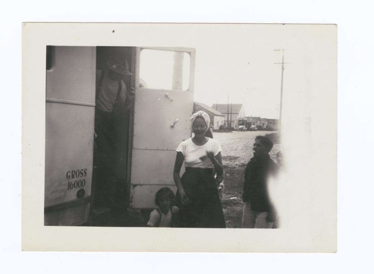 Taholah Folk Coming out of the X-ray Unit, Taholah, Washington
