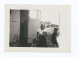 Taholah Folk Coming out of the X-ray Unit, Taholah, Washington
