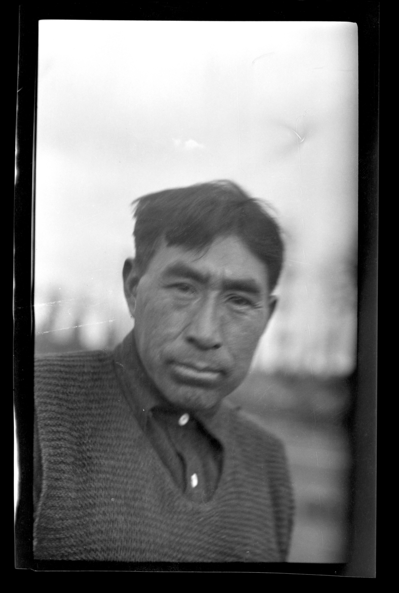 Portrait of a Quilieute Indian Man