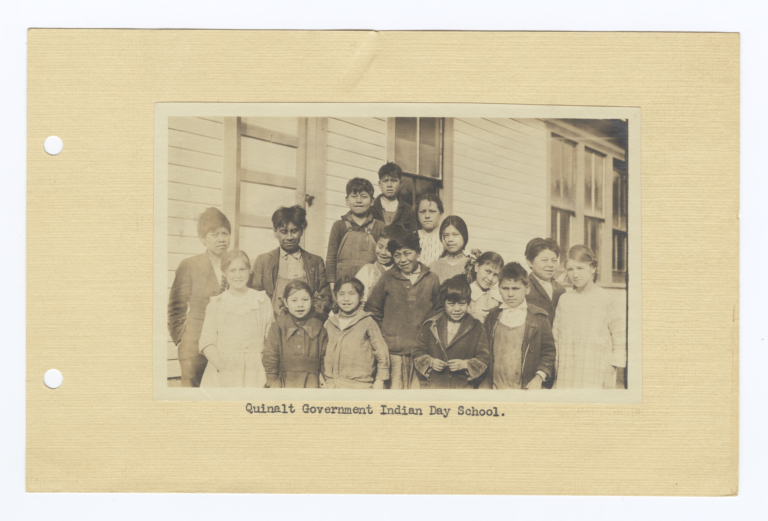 Children of the Quinault Government Indian Day School, Taholah, Washington