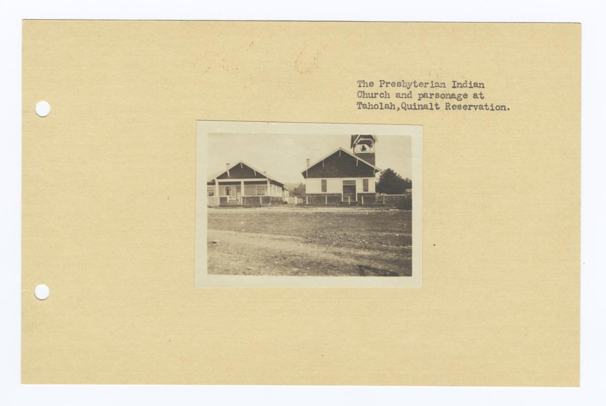 Presbyterian Indian Church and Parsonage, Quinalt Reservation, Taholah, Washington