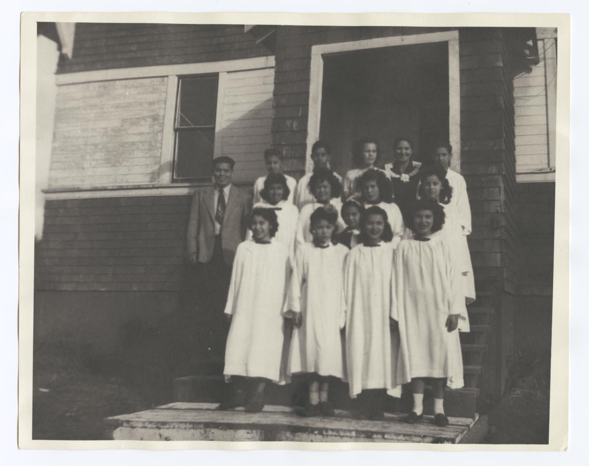 American Indian Choir at Taholah Mission, Washington