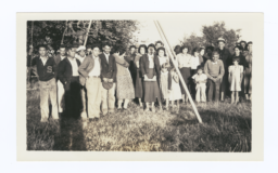 Clallam Indians Group Picture, Jamestown Village, near Sequim, Washington