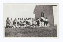 Group Photograph outside a Church