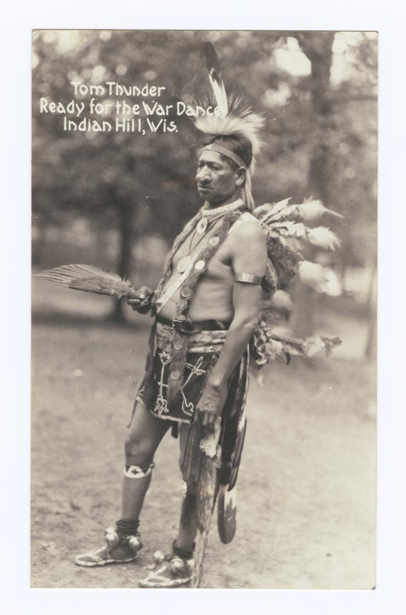 Tom Thunder, Ready for the War Dance, Indian Hill, Wisconsin