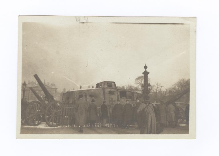 German Tank in the Place de la Concorde