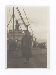 "G.E.E. Lindquist in Uniform aboard ""Northland"""