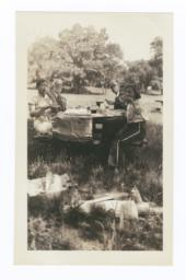 Picnic of Dr. C.L. Hall and Rudolf and Deborah Hertz Family