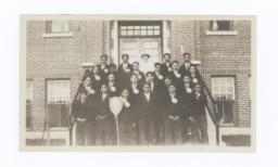 Boys Confirmation Class at W.A. Gordon Residential School, Saskatchewan