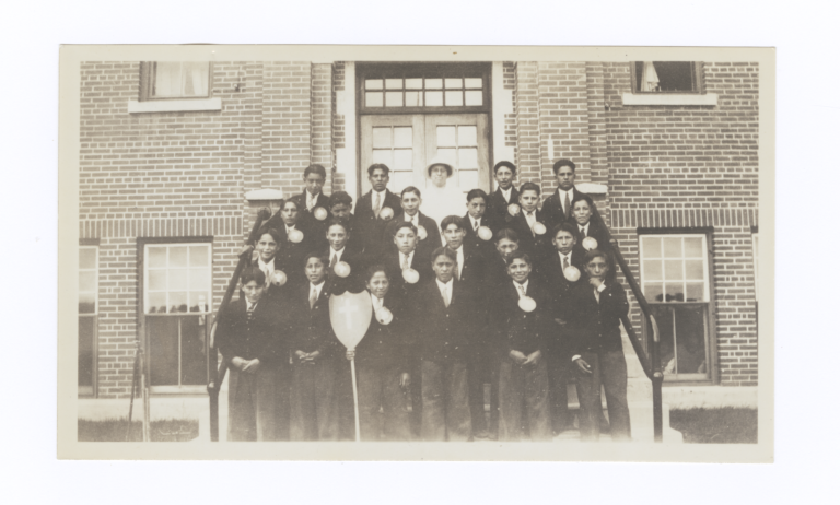 Boys Confirmation Class at W.A. Gordon Residential School, Saskatchewan