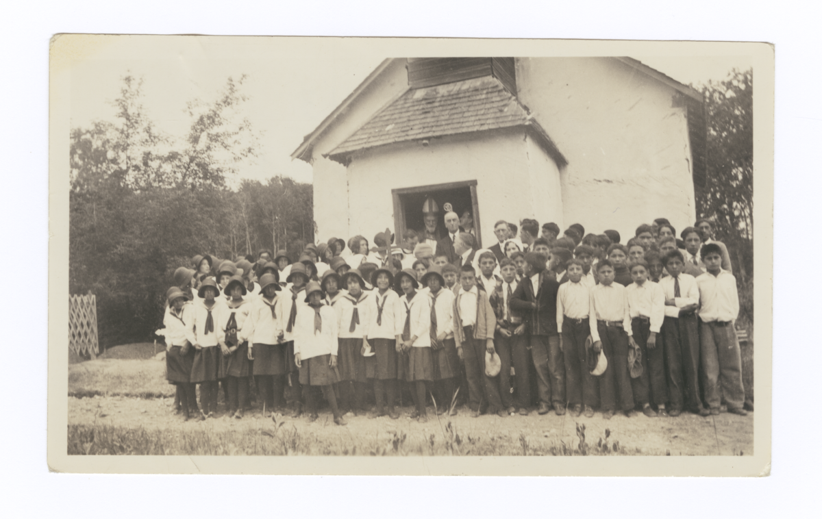 Confirmation Class with Bishop Knowles, Saskatchewan, Canada