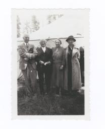 Missionaries  Dr. W.A. Petzoldt, Dr. J.M. Cornelison, Miss M.M Crawford, and Mrs. Rudolph Petter