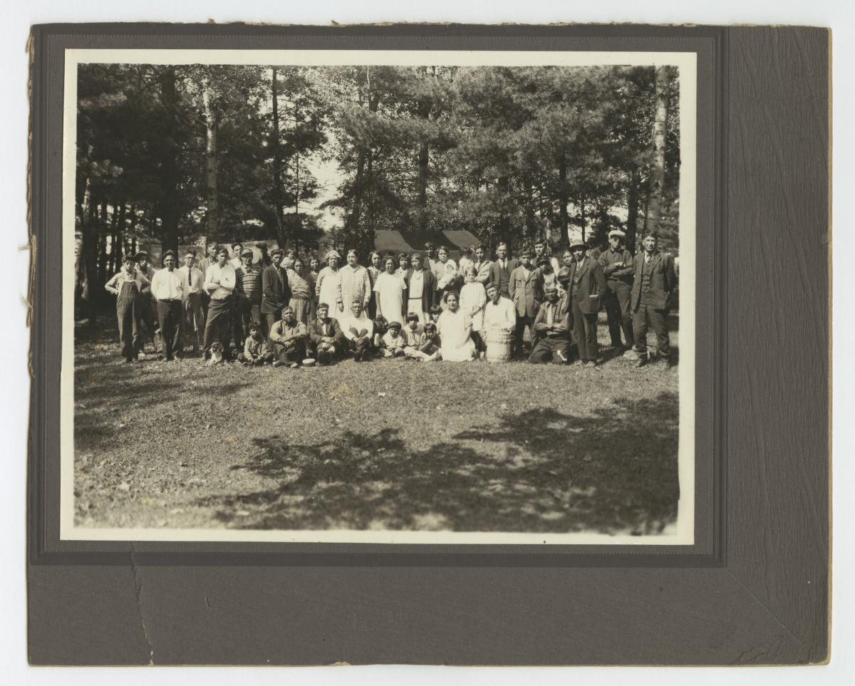 Chippewa Camp Meeting, at Indian Grove, near Mikado, Michigan
