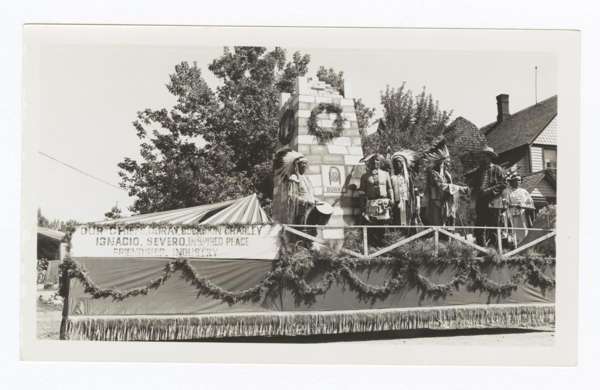 Prize Winning Float with a Replica of the Chieftain's Memorial