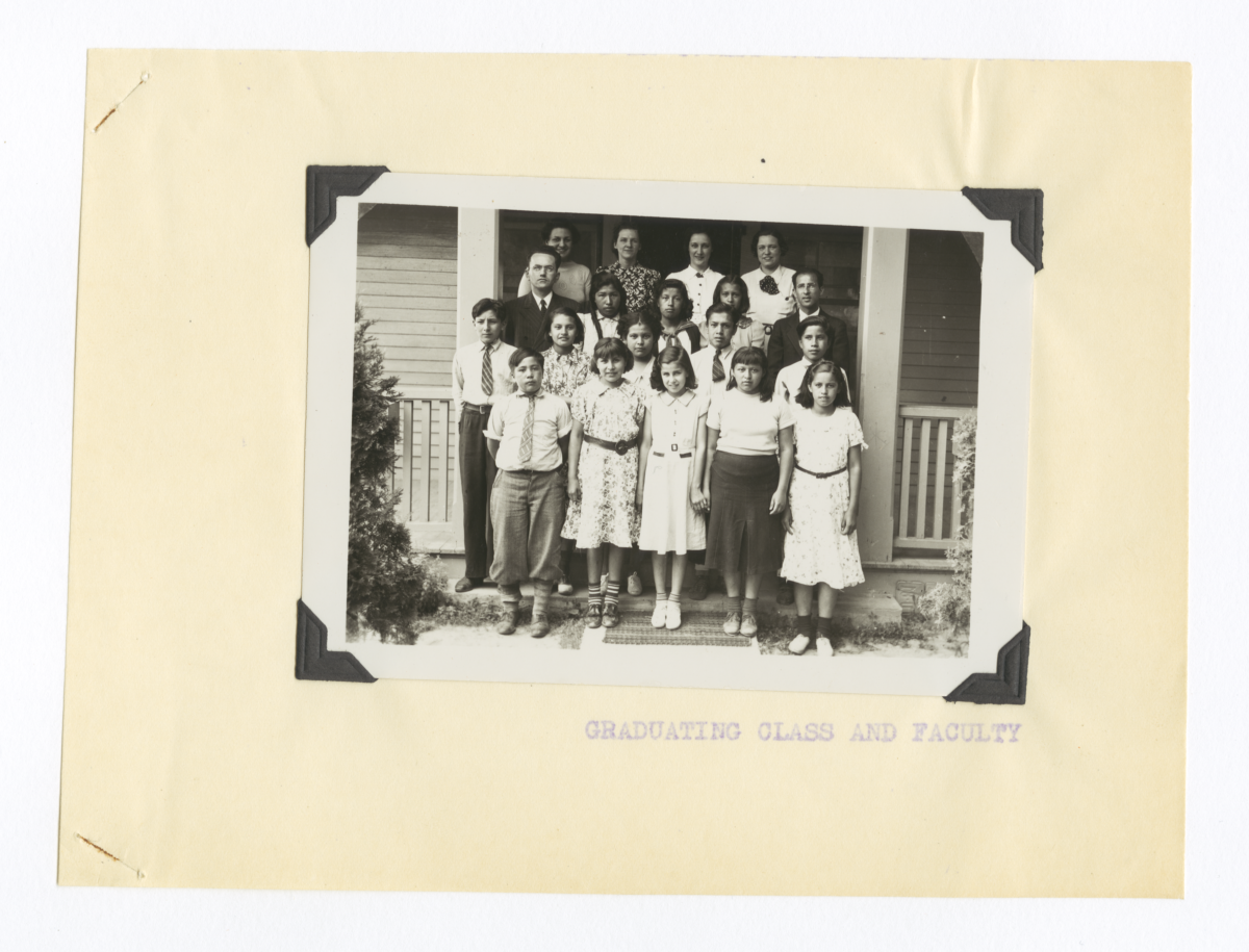 Graduating Class and Faculty from the Ononoaga Reservation School Yearbook, 1937-38