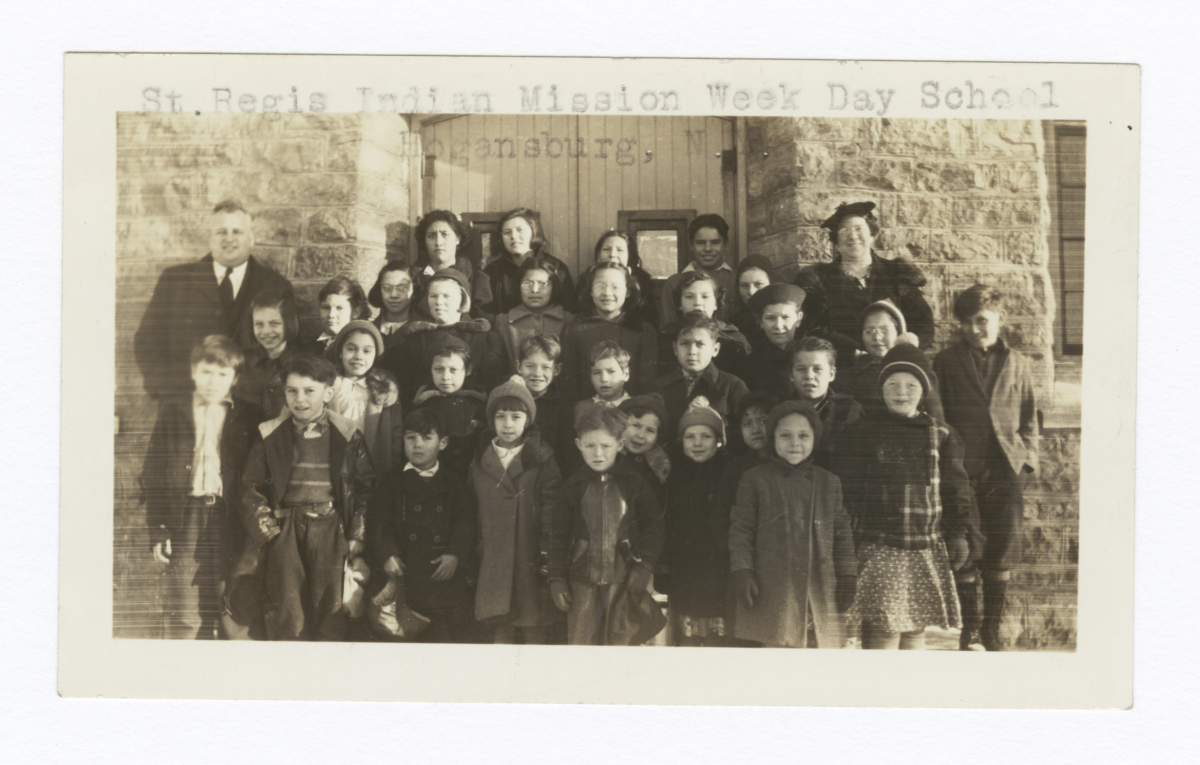Class of Elementary School Students and Their Teachers,St. Regis Indian Mission Hogansburg, New York
