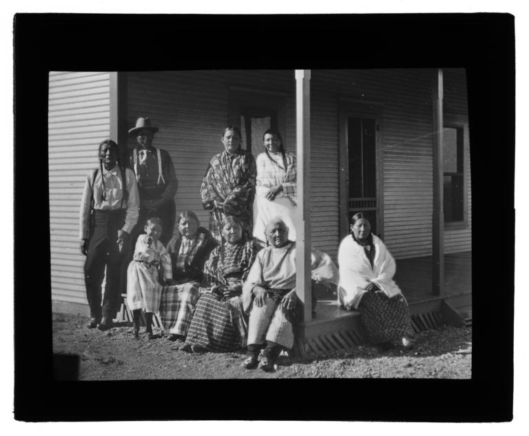 American Indian Men, Women and a Child