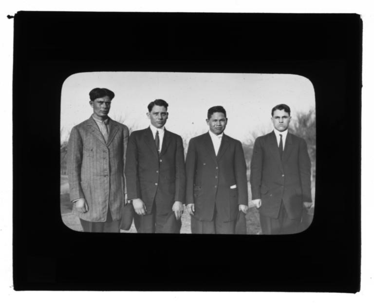 Four Gentlemen in a Field