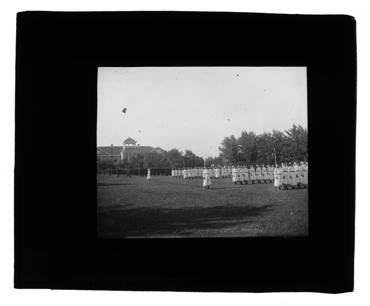 Girls and Boys Battalion at Chiloco Indian School, Oklahoma