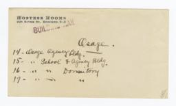 Envelope for Photos (1069) and Negative (1070) of Osage Agency, Pawhuska, Oklahoma