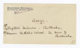 Envelope for Photo (1071) of Southern Baptist Mission,  Pawhuska, Oklahoma