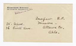 Envelope for Negatives (1075 and 1076) of Quapaw Mission, Ottawa Co., Oklahoma