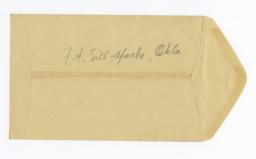 Envelope for Photos (1108, 1111) Postcards (1109, 1110) and Negative (1244) of Fort Sill