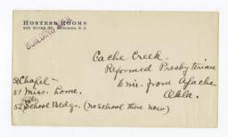 Envelope for Photos (1281, 1283, 1285) and Negatives (1282, 1284, 1286) of Cache Creek Church