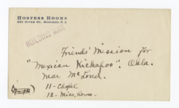 Envelope for Photos (1271 and 1273) and Negatives (1272 and 1274) of Kickapoo Mission, Oklahoma